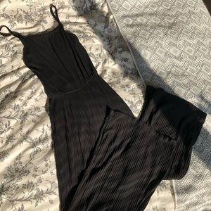 Bershka ribbed culotte jumpsuit